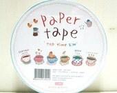 Sweet Coffee Tea Cups Food Kitchen Paper Deco Decor Sticker Tape