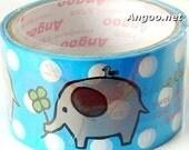 Fun Elephant Clover Leaf Bird Animals Decor Deco Sticker Tape