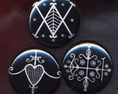 3 Voodoo Vodou vodun mini pinback buttons