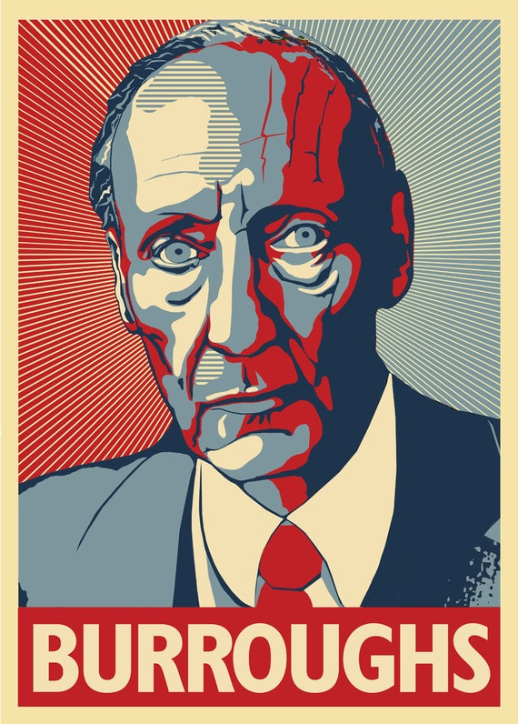 William S. Burroughs - Junkie, Novelist, Essayist - A Poster by Atelier Bagatelle