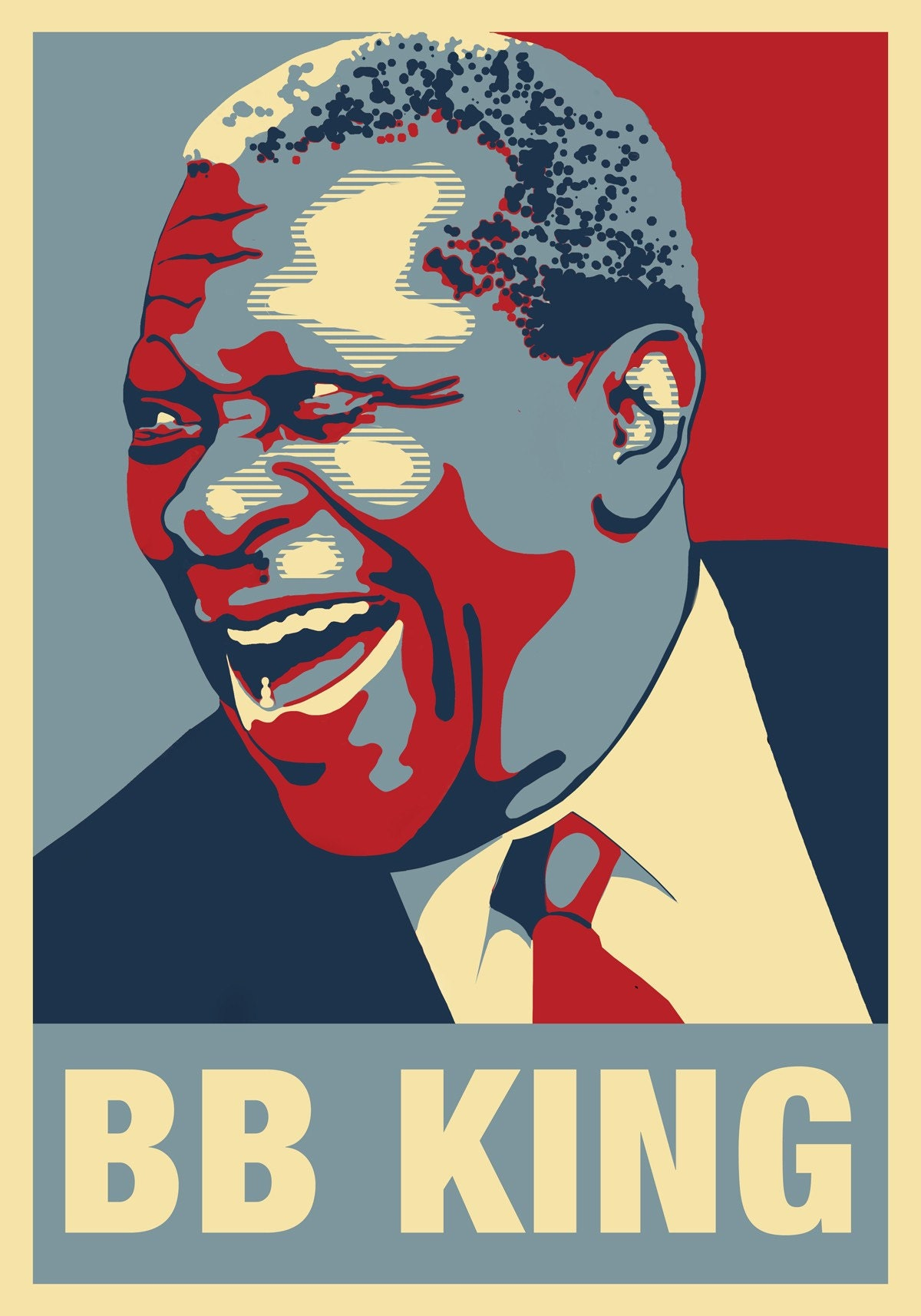 b b king blues man poster first in series. Black Bedroom Furniture Sets. Home Design Ideas