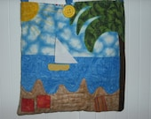 Day at the Beach Quilted Purse