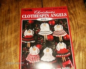 Angel Crocheting Patterns Christmas Clothespin Angels Book 2 Leisure Arts 2701 Anne Halliday Crochet Pattern Leaflet