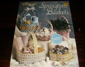 Basket Plastic Canvas Patterns Springtime Baskets Needlecraft Shop 913905 Plastic Canvas Leaflet Fran Rohus
