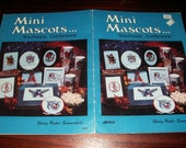 Vintage Counted Cross Stitch Patterns Mini Mascots Southeast Conference Sabra S 55 Counted Cross Stitch Booklet