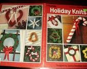 Christmas Knitting Patterns Holiday Knits Leisure Arts 2050 Knit Pattern Leaflet