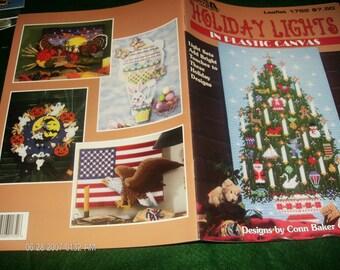 Plastic Canvas Pattern Leaflet Holiday Lights Leisure Arts 1752 Plastic Canvas Pattern Book