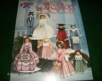 Doll Plastic Canvas Patterns Special Occasion Dolls Annie's Attic 87D55 Pattern Leaflet