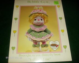 Vinyl Head Doll Croching Pattern Dumplin Doll Crochet Bubble Gum Lollipop Lane CDC401 Pattern Folder