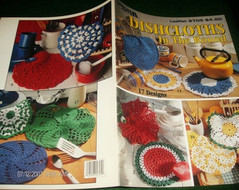 Dish Cloth Crocheting Patterns Dishcloths in the Round Leisure Arts 2705 Crochet Pattern Leaflet