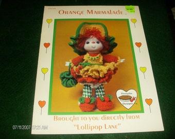 Crochet Dumplin Dolls Orange Marmalade Lollipop Lane CDC 409 Crocheting Pattern Leaflet