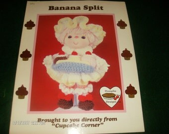Vinyl Head Doll Crocheting Patterns Banana Split Cupcake Cormer Dumplin Designs UP 6 Crochet Pattern Leaflet