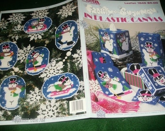 Plastic Canvas Pattern Frosty the Snowman Leisure Arts 1545 Plastic Canvas Pattern Leaflet