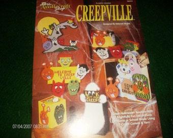 Halloween Plastic Canvas Patterns Creepville Needlecraft Shop 963379 Pattern Leaflet
