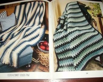 Afghan Crocheting Patterns Subtle Shades Leisure Arts 3163 Crochet Pattern Leaflet Anne Halliday