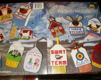 Plastic Canvas Patterns Fly Swatter Covers American School of Needlework 3074