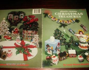 Christmas PC Patterns Christmas Treasures American School of Needlework 3044 Plastic Canvas Pattern Leaflet Carol Wilson Mansfield