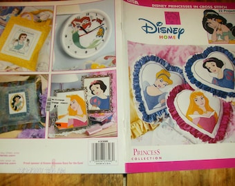 Counted Cross Stitching Patterns Disney Princesses in Cross Stitch Leisure Arts 3396 Pattern Leaflet