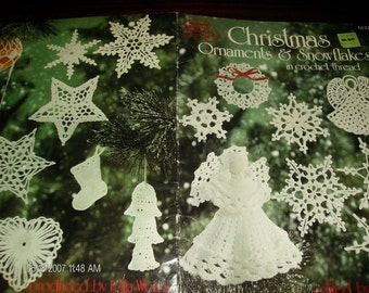 Christmas Ornaments and Snowflakes American School of Needlework 1033 Crochet Leaflet