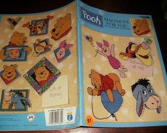 Disney Plastic Canvas Magnets for You Winnie the Pooh Leisure Arts 1862 Plastic Canvas Leaflet