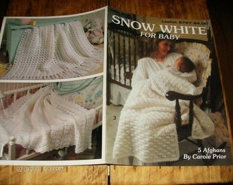 Baby Crocheting Patterns Snow White For Baby Leisure Arts 2727 Crochet Pattern Leaflet Carole Prior