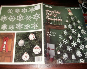 Thread Crochet Pattern Snowflakes Bells and Ornaments Leisure Arts 363 Pattern Leaflet