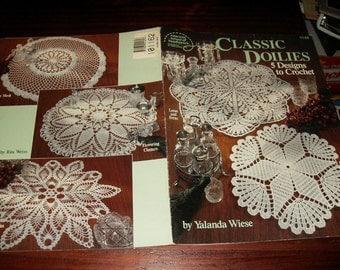 Thread Crochet Doily Patterns Classic Doilies American School of Needlework 1144 Pattern Leaflet