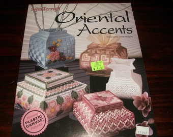 Plastic Canvas Pattern Oriental Accents Needlecraft Shop 903304 Carole Rodgers Plastic Canvas Pattern Leaflet