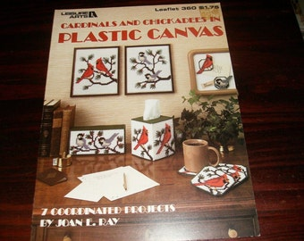Plastic Canvas Patterns Cardinals and Chickadees in Plastic Canvas Leisure Arts 360 Plastic Canvas Pattern Leaflet