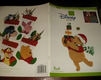 Christmas Disney Plastic Canvas Christmas with Winnie the Pooh Leisure Arts 1971 Plastic Canvas Leaflet