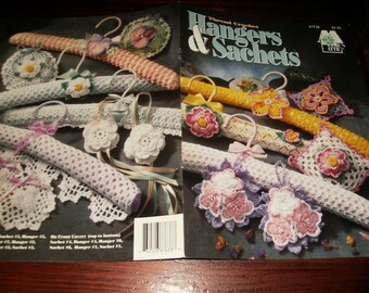 Thread Crochet Pattern Leaflet Hangers and Sachets Annie's Attic 87F38 Crochet Pattern Leaflet