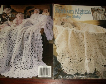 Baby Afghan Crochet Pattern Leaflet Heirloom Afghans for Baby Leisure Arts 3059 Crocheting Patterns Terry Kimbrough
