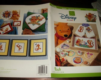 Cross Stitch Charts Winnie the Pooh Disney Home Let's Be Friends Leisure Arts 3273 Counted Cross Stitch Leaflet