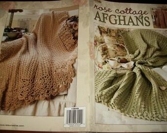 Afghan Crochet Pattern Leaflet Rose Cottage Afghans Leisure Arts 3249 Crocheting Patterns Leaflet
