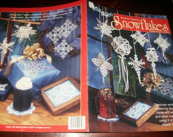 Christmas Plastic Canvas Patterns Snowflakes Needlecraft Shop 923336 Fran Rohus Plastic Canvas Pattern Leaflet