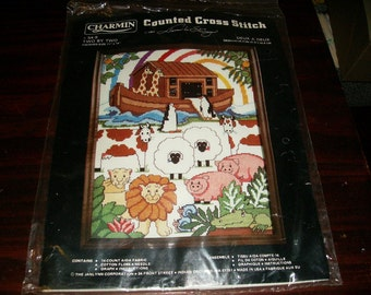 Counted Cross Stitch Kit Two by Two Charmin Janlynn Designs 54-9 Noah's Ark Sealed Kit