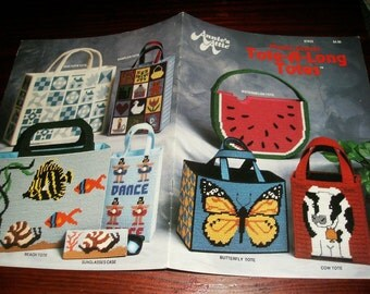 Bag Plastic Canvas Patterns Tote a Long Totes Annie's Attic 87K23 Plastic Canvas Pattern Leaflet