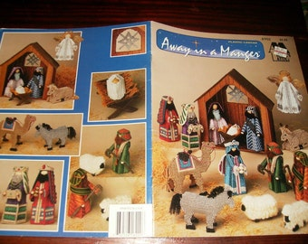 Christmas Plastic Canvas Patterns Away in a Manger Annie's Attic 87P22 Nativity Plastic Canvas Pattern Leaflet