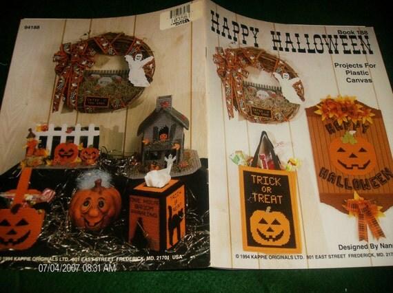 Plastic Canvas Patterns Happy Halloween Kappie Originals 188 Nancy Dorman Pattern Leaflet