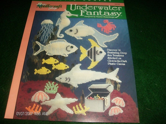 Ocean Fish Plastic Canvas Patterns Underwater Fantasy Needlecraft Shop 933106 Plastic Canvas Pattern Leaflet