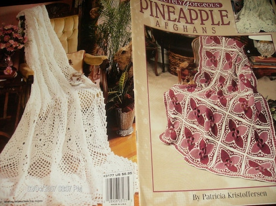 Afghan Crocheting Patterns Absolutely Gorgeous Pineapple Afghans Leisure Arts 3177 Crochet Pattern Leaflet Patricia Kristoffersen