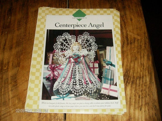Thread Crochet Pattern Centerpiece Angel Vanna White Binder Pattern Christmas Traditions 15 Crocheting Patterns