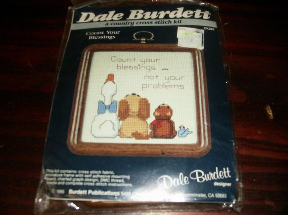 Count Your Blessings Dale Burdett Counted Cross Stitch Kit CK285