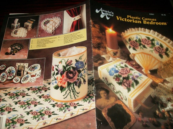 Plastic Canvas Victorian Bedroom Annie's Attic 87B41 Pattern Leaflet
