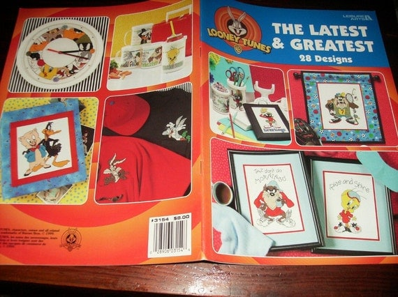 Counted Cross Stitch Patterns Looney Tunes The Latest and Greatest Leisure Arts 3154 Counted Cross Stitch Leaflet