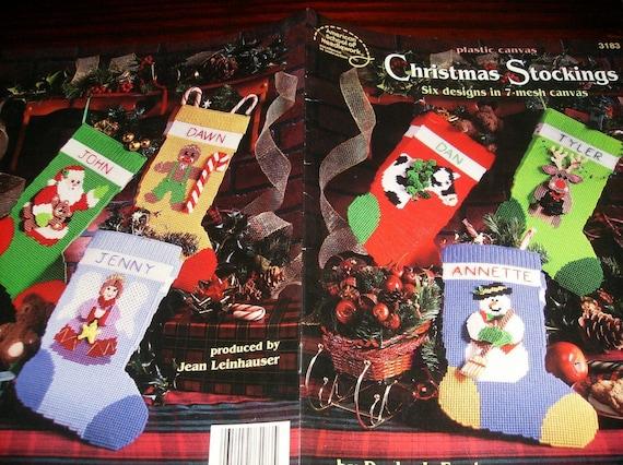Christmas Plastic Canvas Patterns Christmas Stockings American School of Needlework 3183 Plastic Canvas Leaflet Darla Fanson