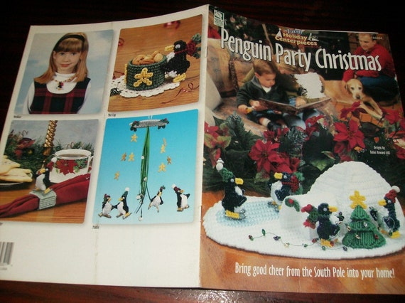 Christmas Plastic Canvas Patterns Penguin Party Christmas House of White Birches 186004 Plastic Canvas Pattern Leaflet