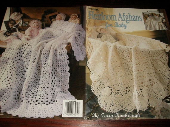 Crochet Heirloom Stitches : Baby Afghan Crochet Pattern Leaflet Heirloom Afghans for Baby Leisure ...