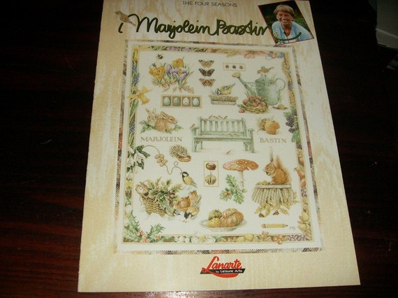 Marjolein Bastin Counted Cross Stitch Pattern The Four Season Leisure Arts 3165 Counted Cross Stitch Leaflet