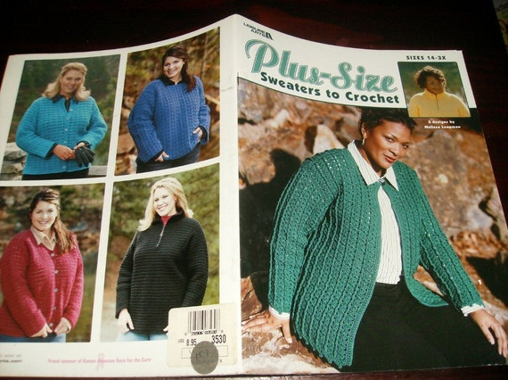 Plus Size Crocheting Patterns Plus Size Sweaters to Crochet Sizes 14 to 3X Leisure Arts 3530